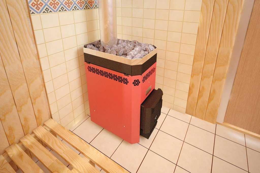 Банная печь Русь 9 с открытой каменкой