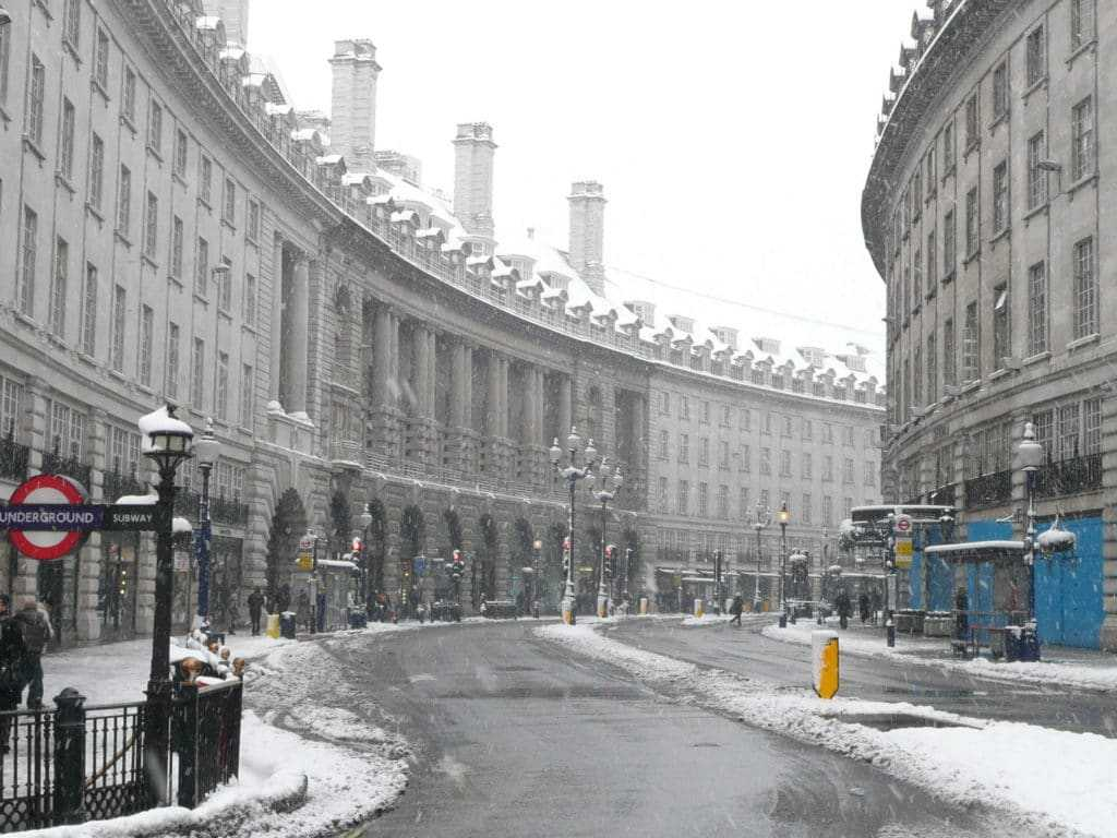 Великобритания зимой