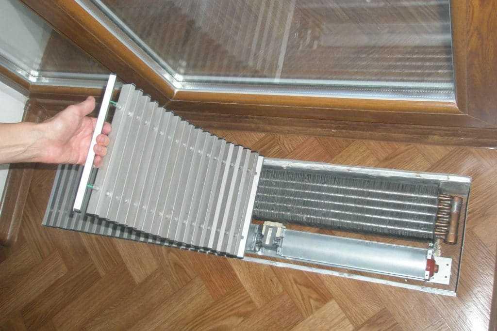Монтаж напольных радиаторов