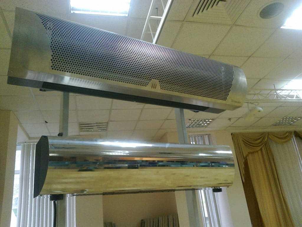 Настройка и монтаж тепловой завесы