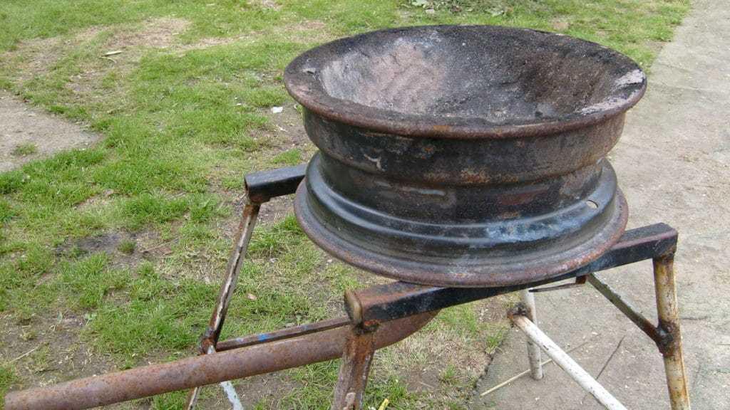 Небольшая печь из дисков
