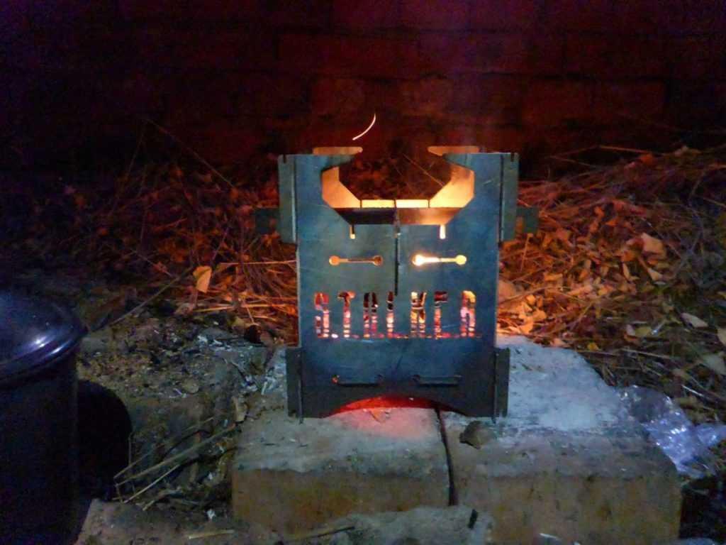 Печь щепочница Хобо