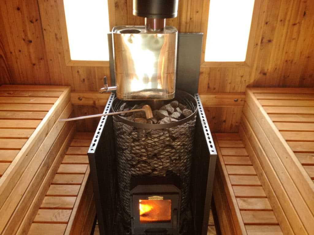 Печка с бочкой