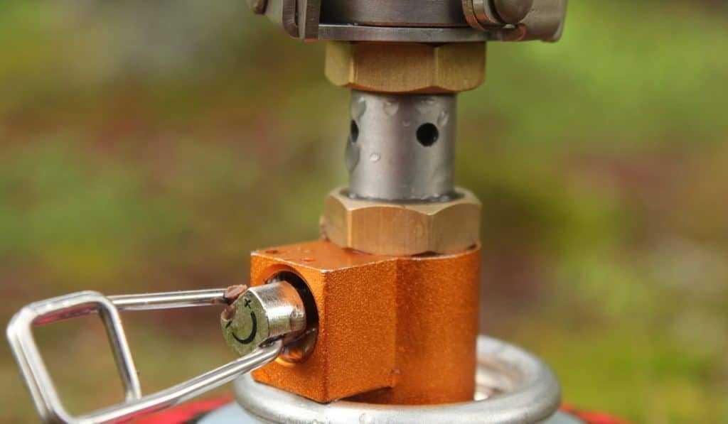 Вентиль на газовой горелке