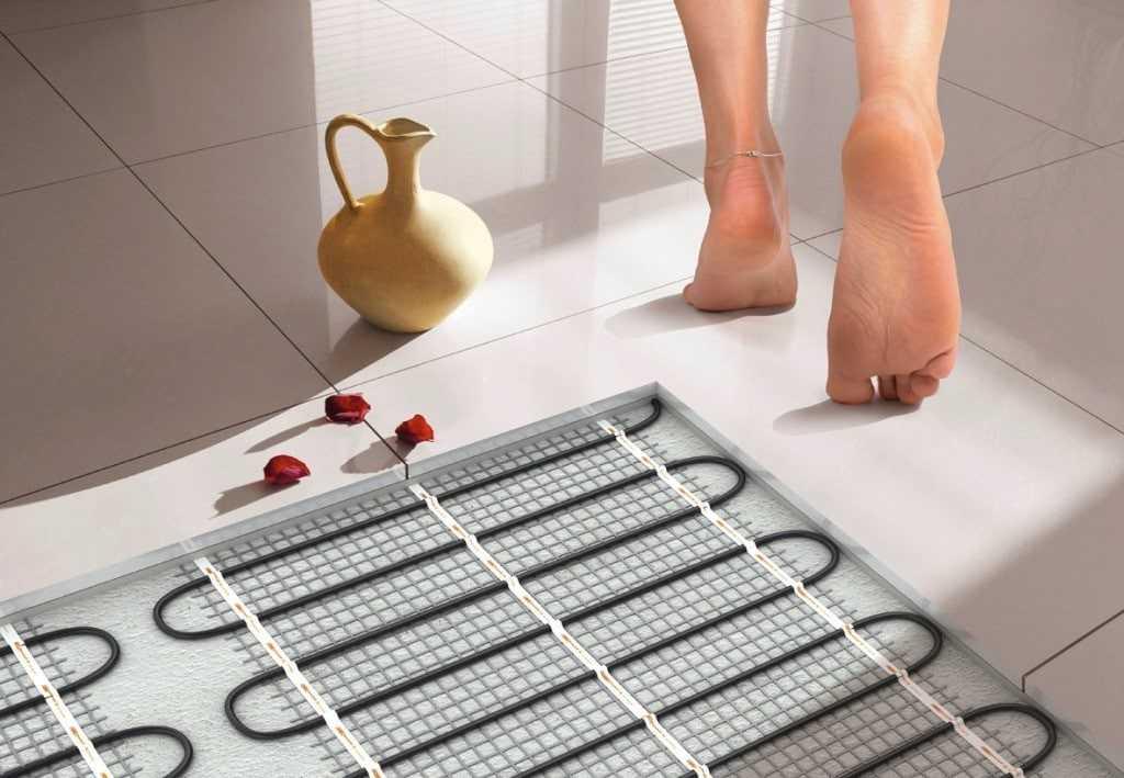 Электрический теплый пол в бане