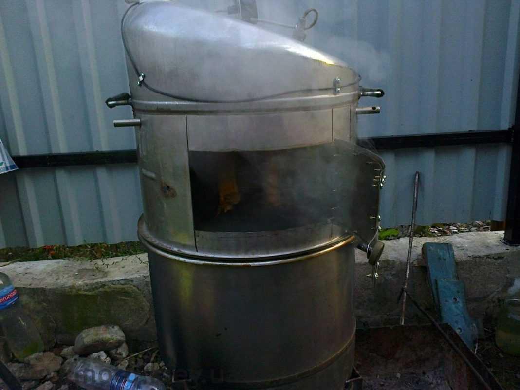 Коптильня из стиральной машины