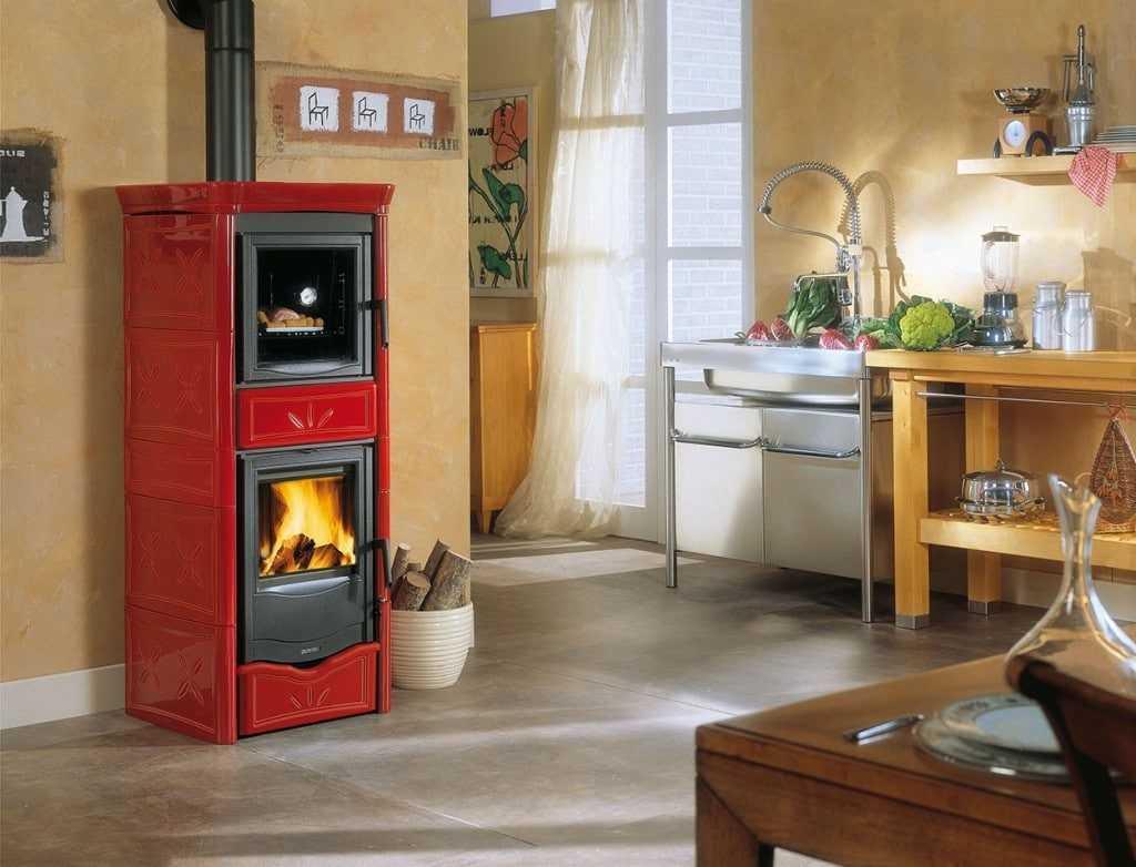 Печь-камин для дома с водяным контуром