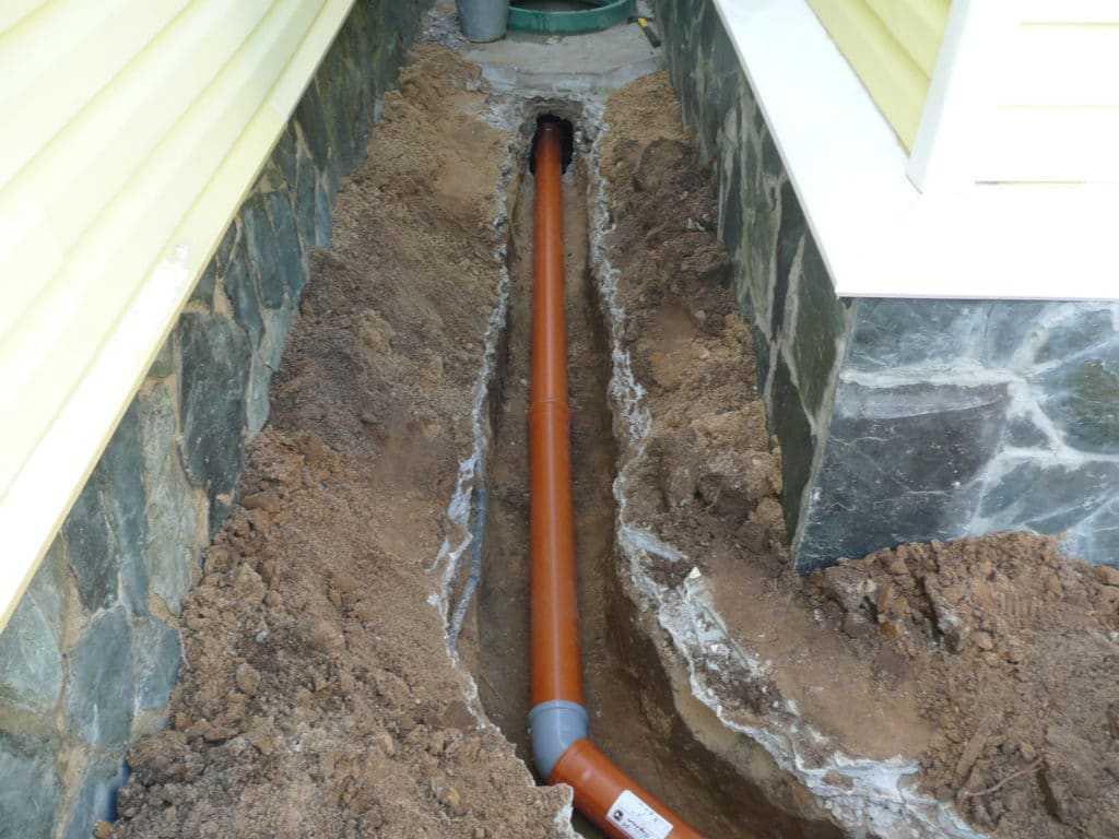 Трубопровод от дома к бане