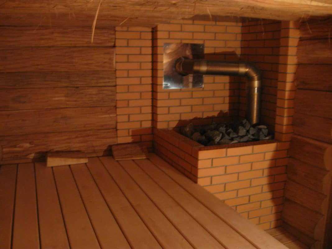 Установка печки в бане с выносной топкой