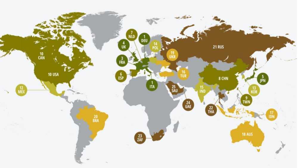 В рейтинге энергоэффективности Россия заняла 21 место