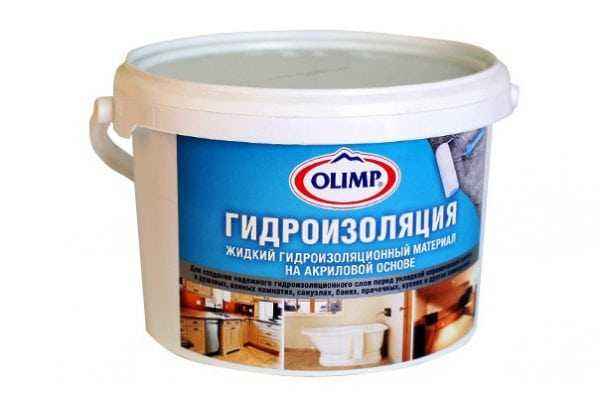 Гидроизоляция Olimp жидкий материал на акриловой основе