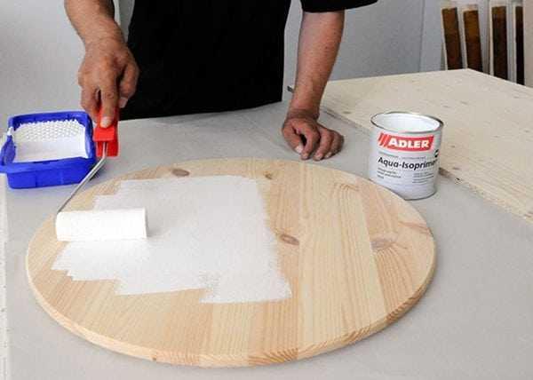 Грунтовка деревянной столешницы