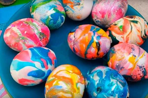 Яйца с мраморным эффектом