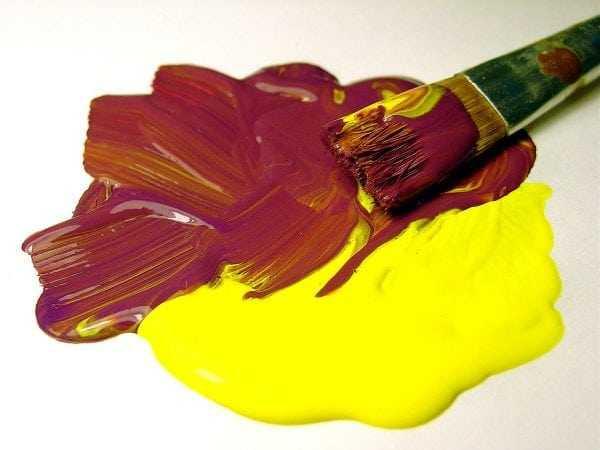 Смешивание масляных красок разных оттенков