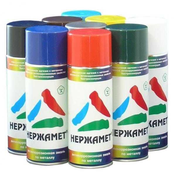 Аэрозольные краски для металлических поверхностей