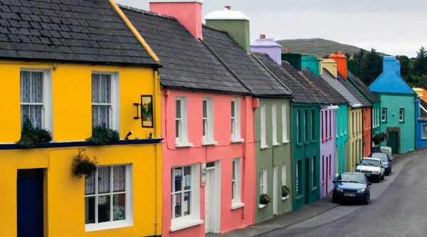 Разноцветные фасады