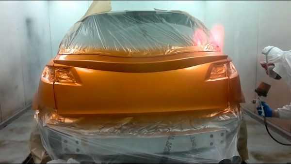 Автомобиль красят акриловым составом