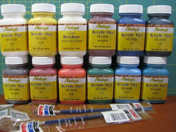 Акриловые краски для изделий из кожи