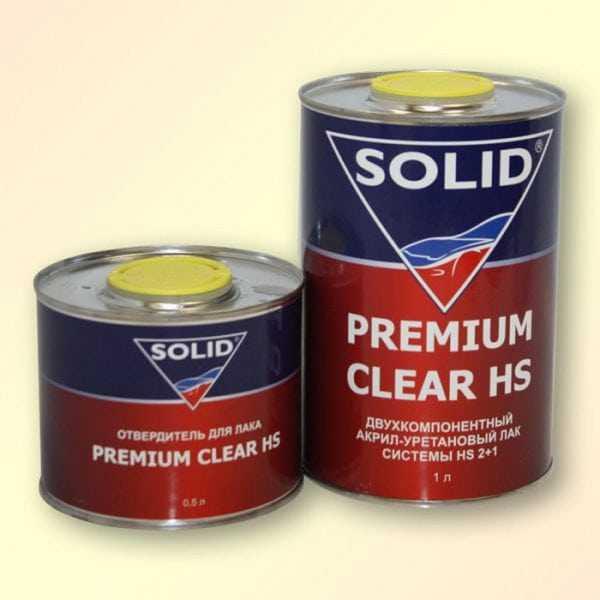 Акрилполиуретановый лак двухкомпонентный Premium Clear HS