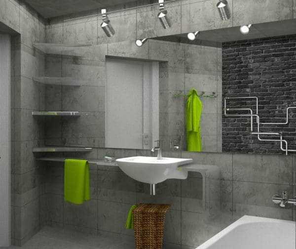 Аксессуары для ванной в стиле лофт