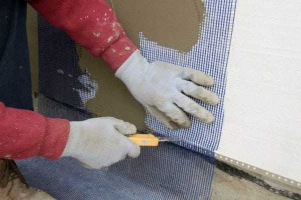 Армирование стен утепленных пенопластом