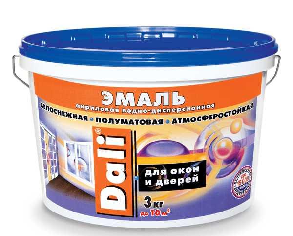 Атмосферостойкая акриловая эмаль для нанесения на окна и двери