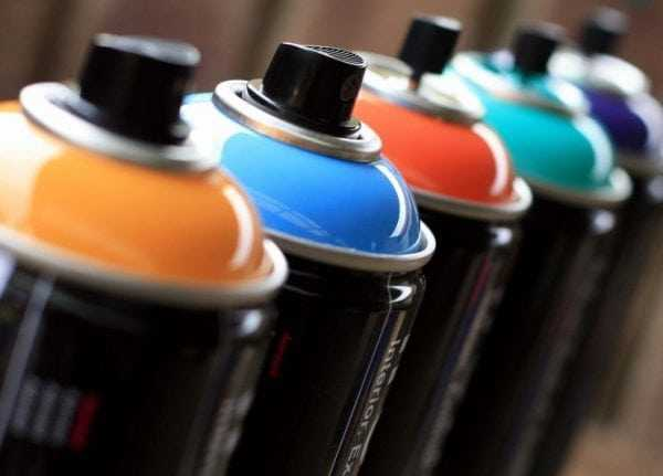 Достоинства аэрозольных красок