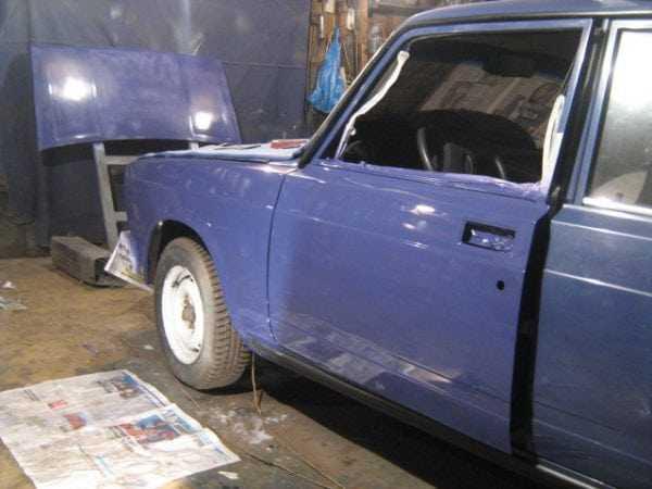 В гараже сложно обеспечить нормальный тепмературный режим при покраске авто