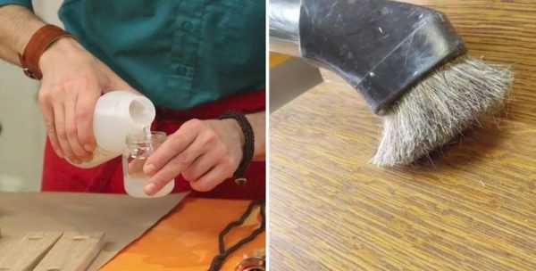 Два способа браширования древесины