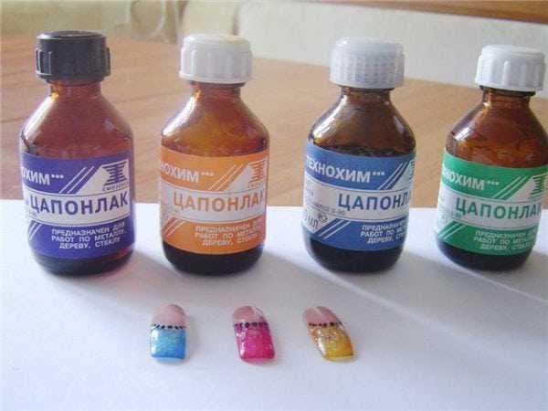 Цапонлак различных цветов