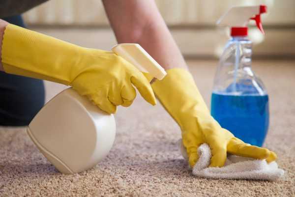 Очищение коврового покрытия