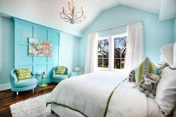 Детская комната в цвете тиффани
