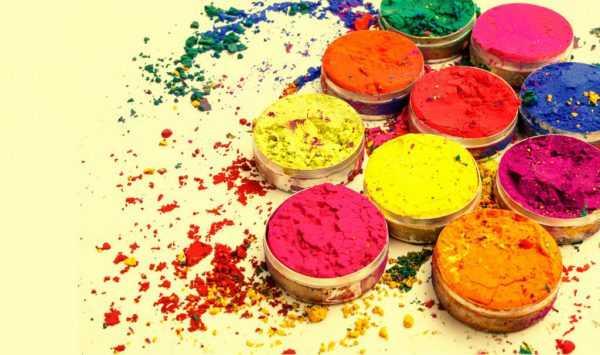 Изготовление красок холи своими руками