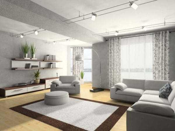 Серый используется в различных стилях оформления
