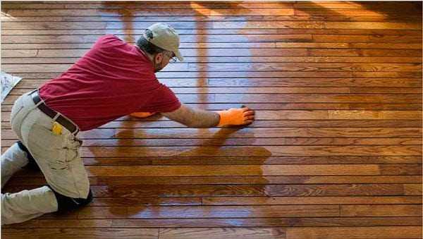 Пропитанный деревянный пол
