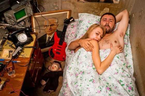 Сергей Шнуров с актрисой Оксаной Акиньшиной