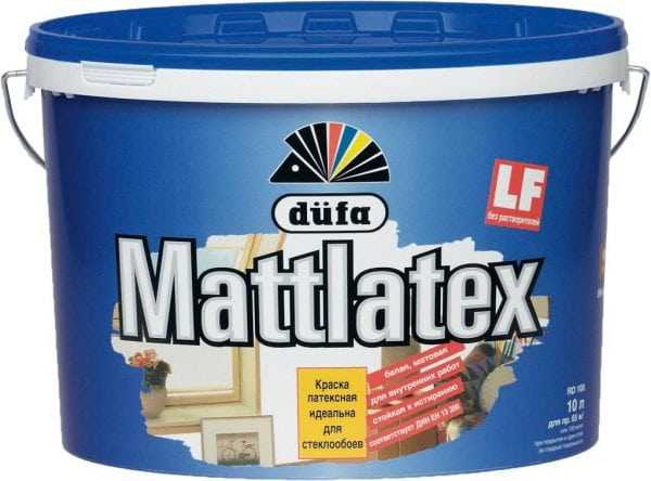 Латексная краска Mattlatex Dufa для стеклообоев
