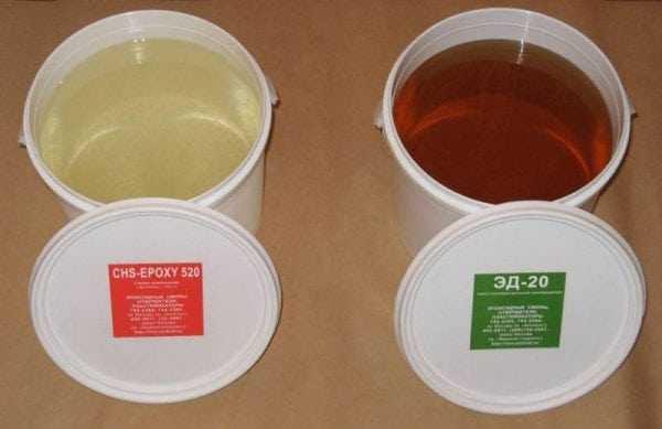 Эпоксидно-диановая смола с отвердителем