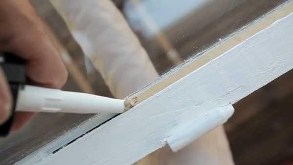 Герметизация оконного стекла