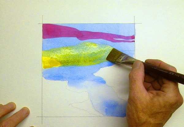 Техника акварельной глазури