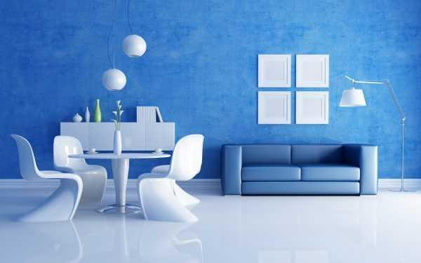 Голубой цвет создает атмосферу покоя