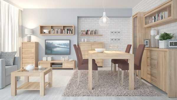 Мебель из дуба в интерьере