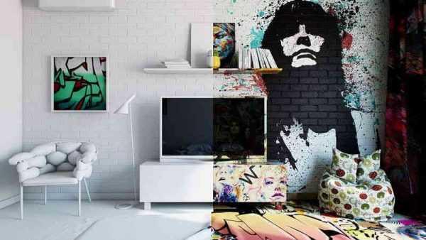 Граффити в интерьере дома