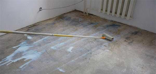 Грунтование бетона под линолеум