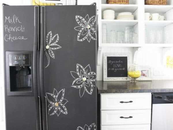 Холодильник с грифельной поверхностью
