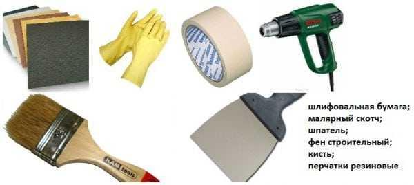Перечень инструментов для реставрации подоконника