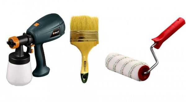 Инструменты для покраски кресла