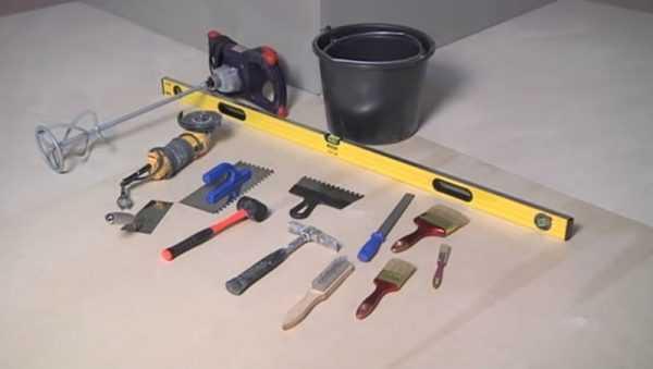 Инструменты для укладки декоративного камня