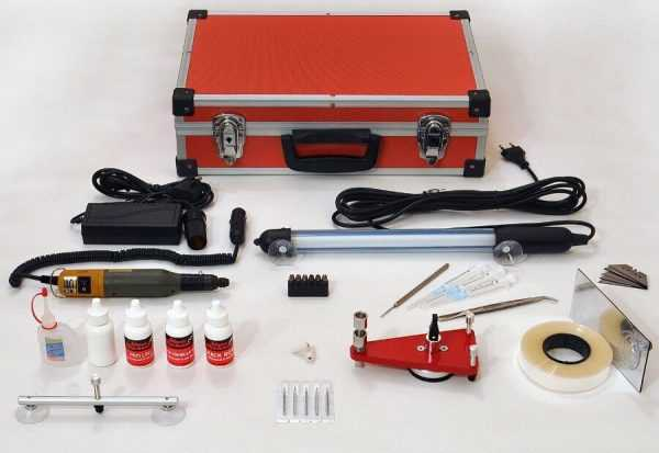 Инструменты и материалы для ремонта автостекол