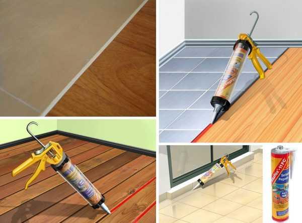 Использование герметика Sikaflex для заделки стыков между плиткой и ламинатом